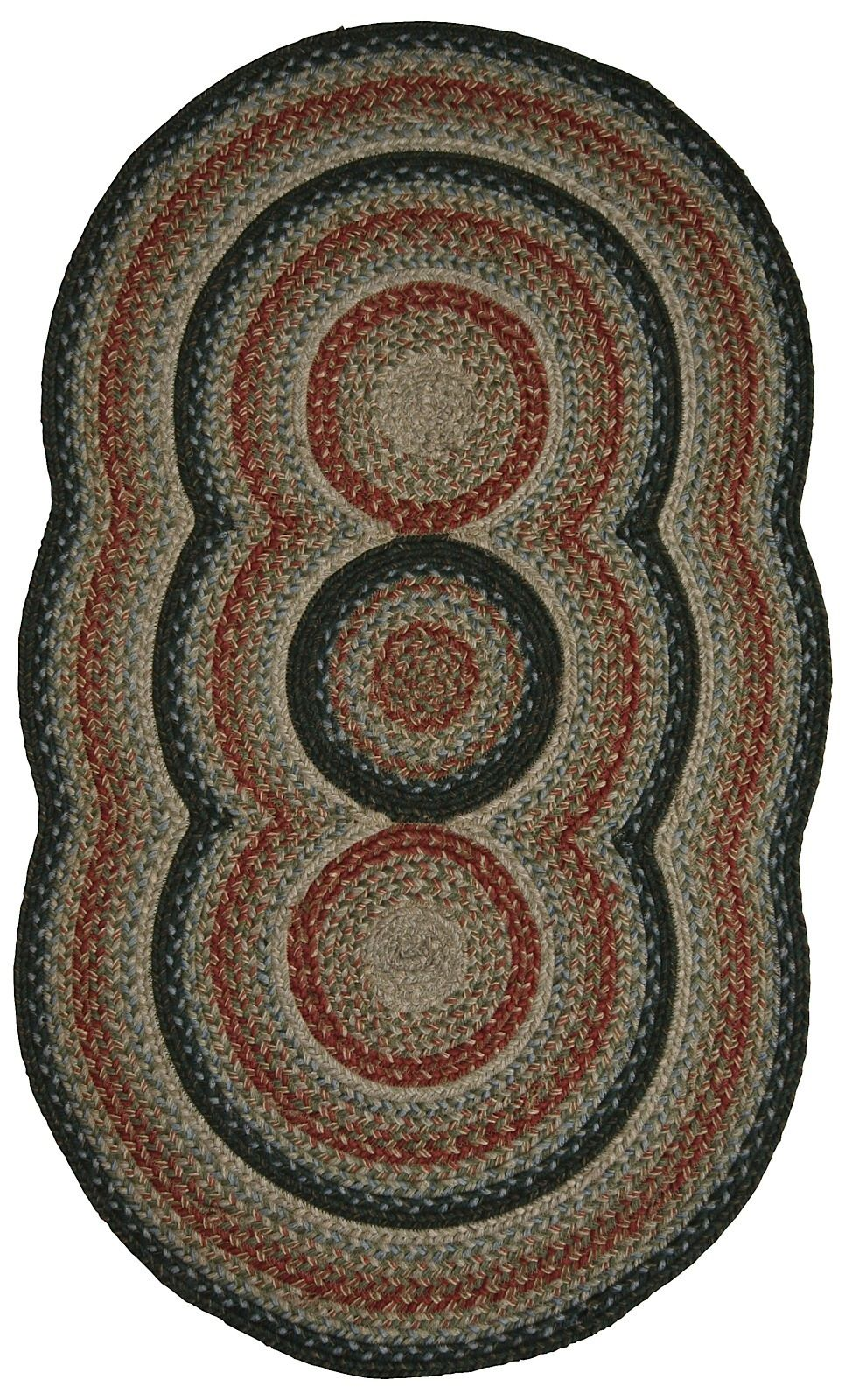 homespice decor trio romance braided area rug collection