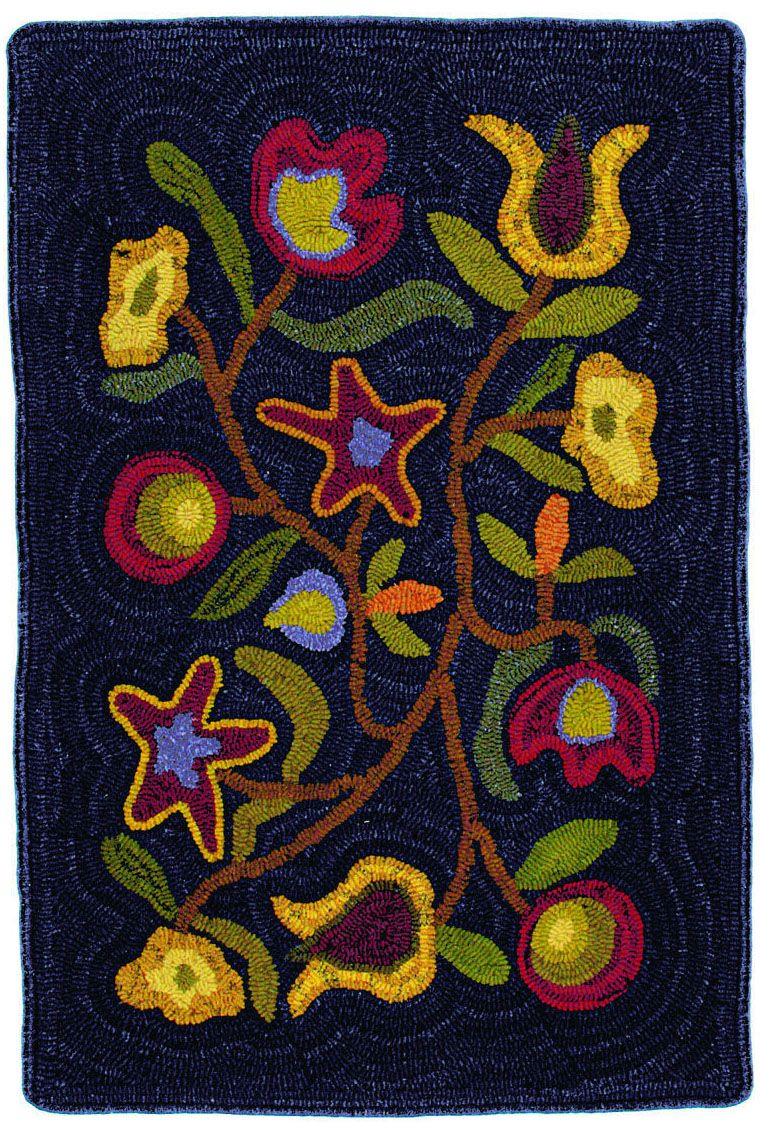 homespice decor walk in the flower braided area rug collection