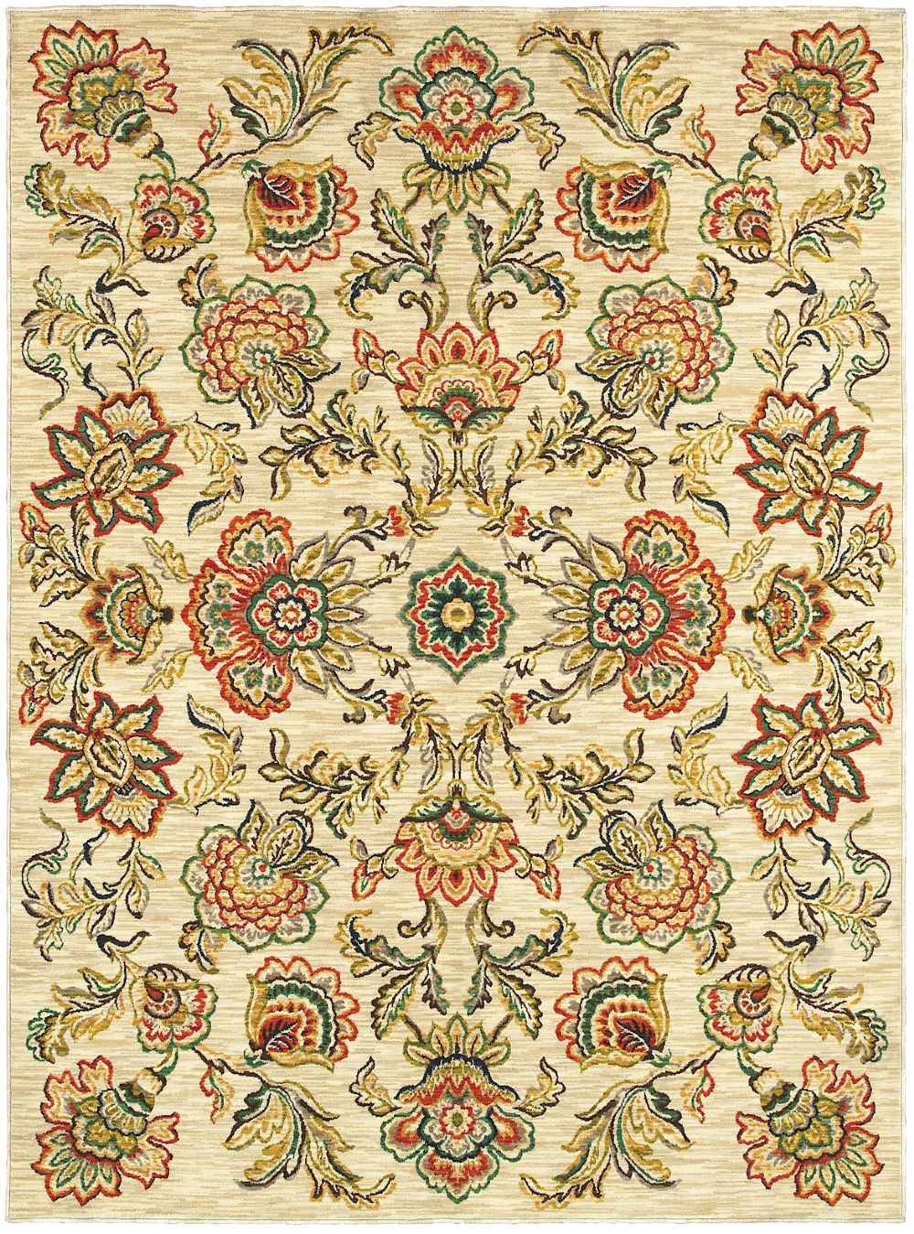 shaw melrose country & floral area rug collection