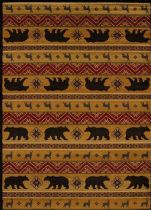 United Weavers Contemporary Affinity Nordic Bear Area Rug Collection