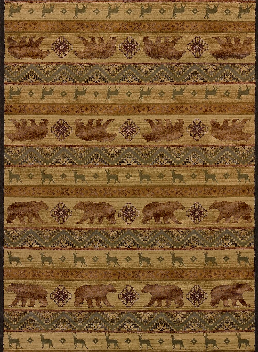 united weavers affinity nordic bear southwestern/lodge area rug collection