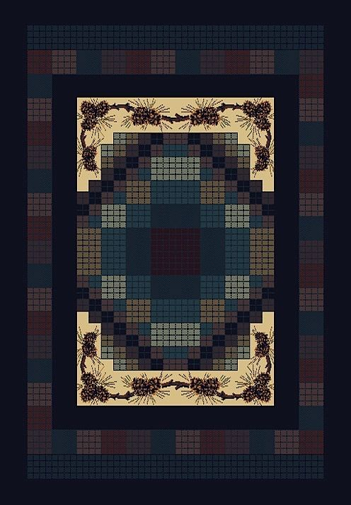 united weavers manhattan gingham southwestern/lodge area rug collection
