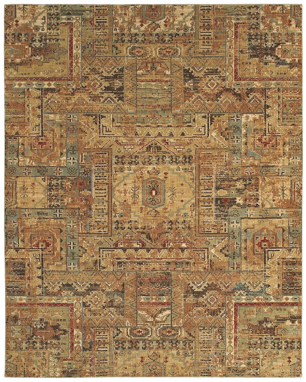 shaw arabesque southwestern/lodge area rug collection