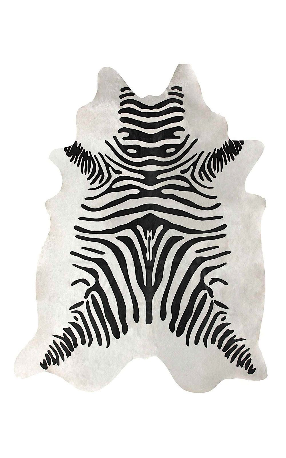 nuloom striped cowhide animal inspirations area rug collection