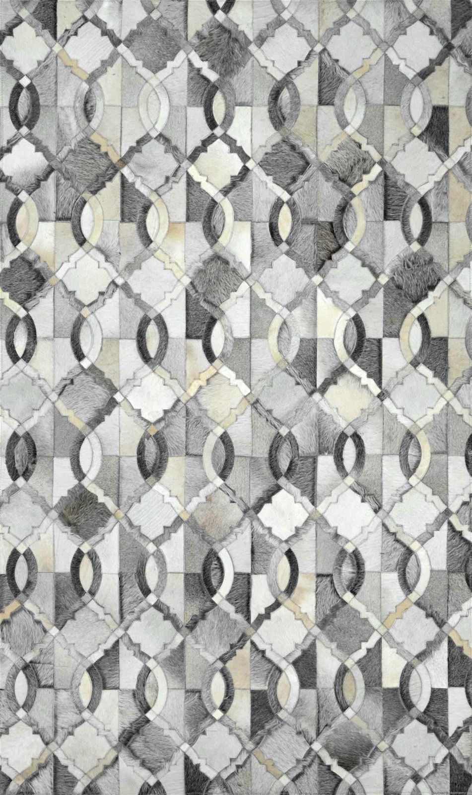 nuloom lance cowhide animal inspirations area rug collection