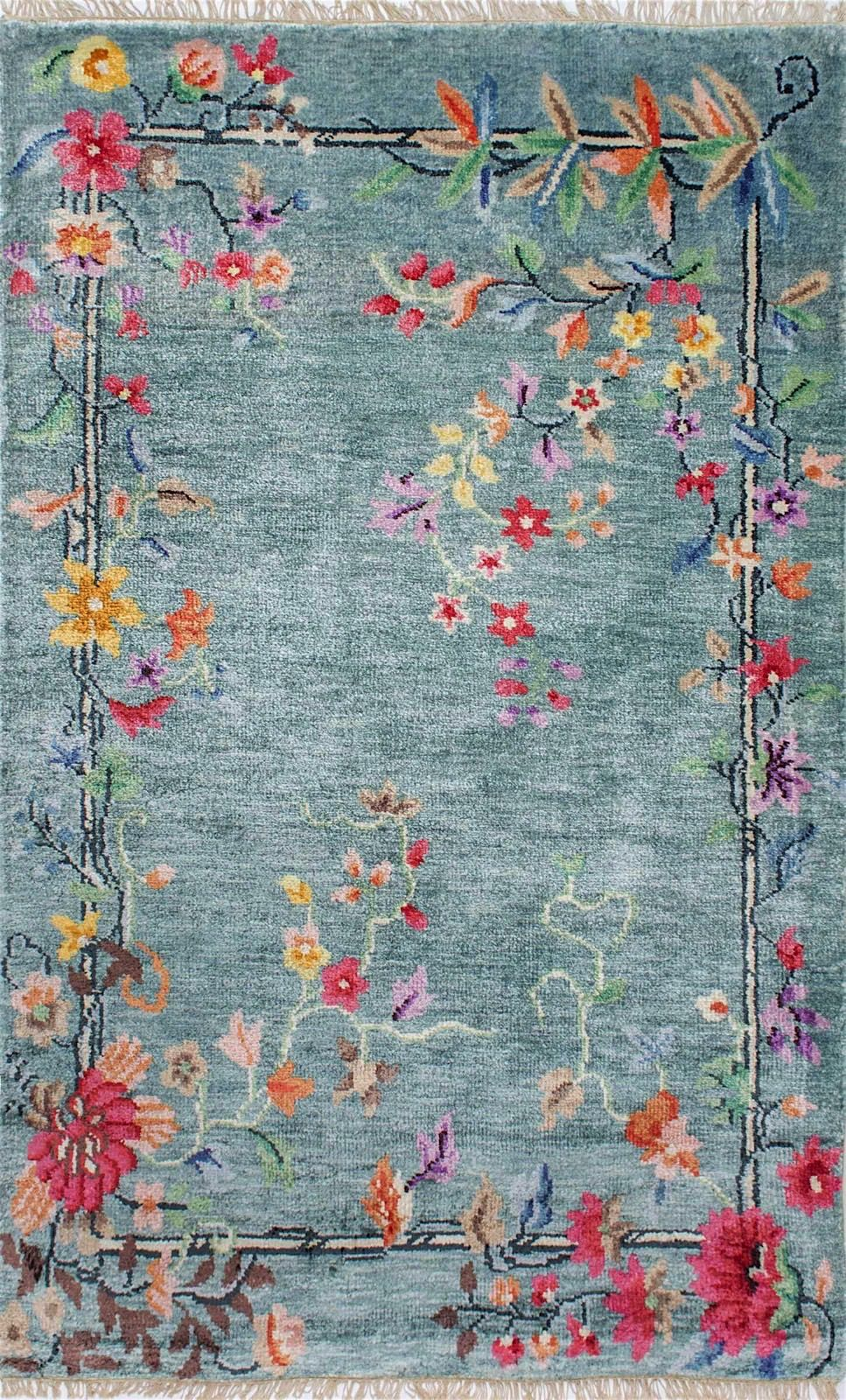 nuloom helen chinese art deco country & floral area rug collection