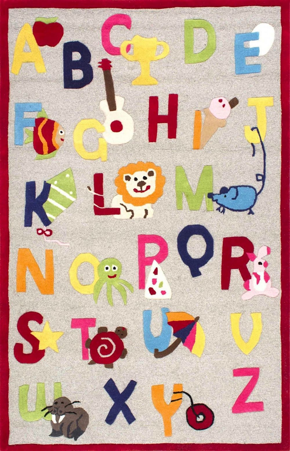 nuloom animal alphabet kids area rug collection