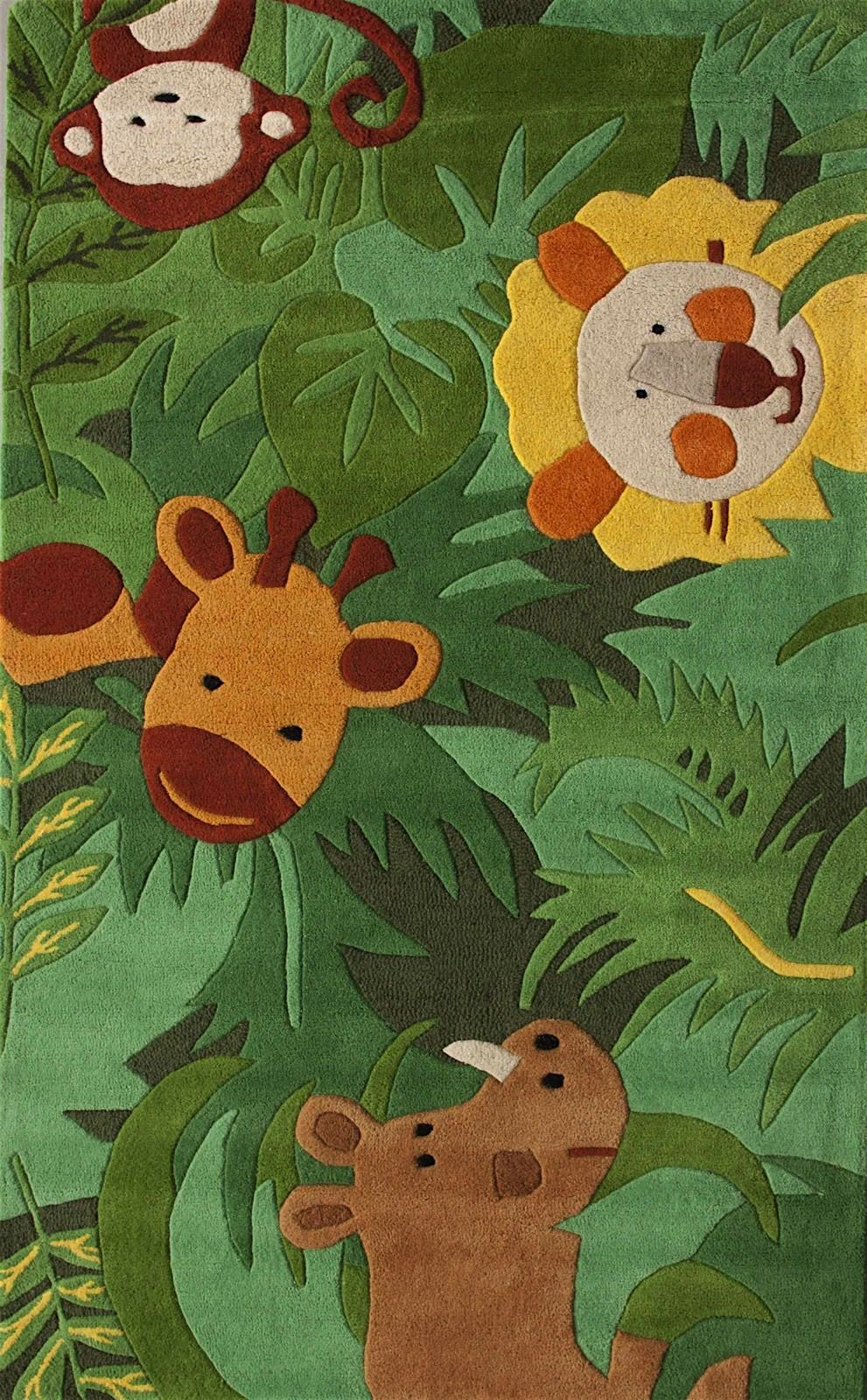nuloom king of the jungle kids area rug collection
