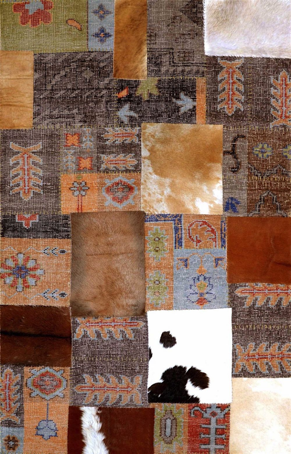 nuloom cowhide patchwork pearson novelty area rug collection