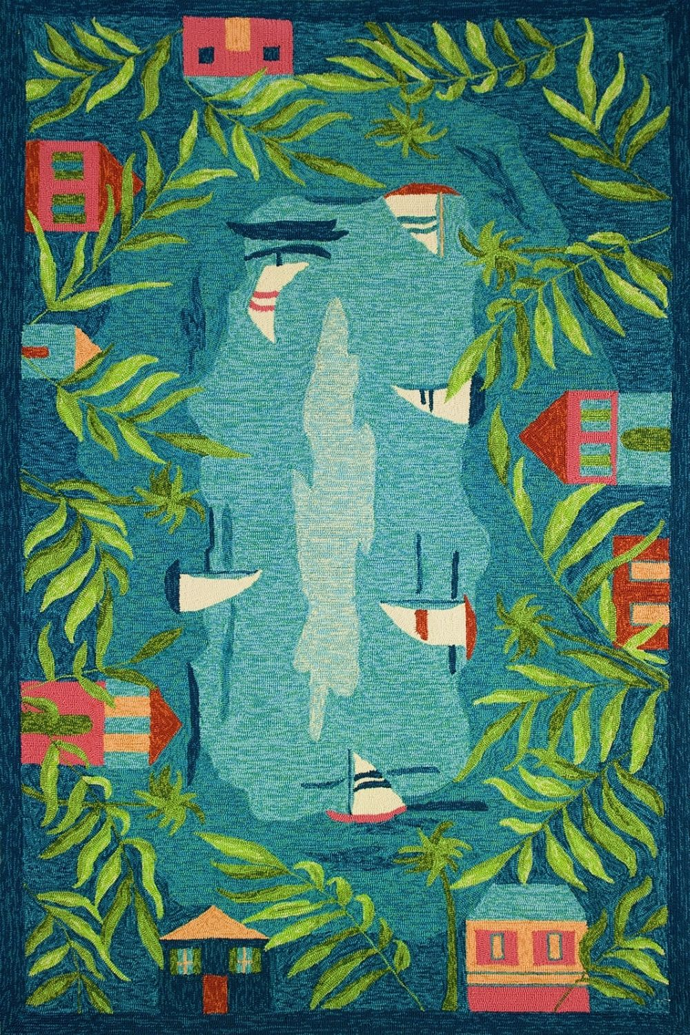 homefires sail away contemporary area rug collection
