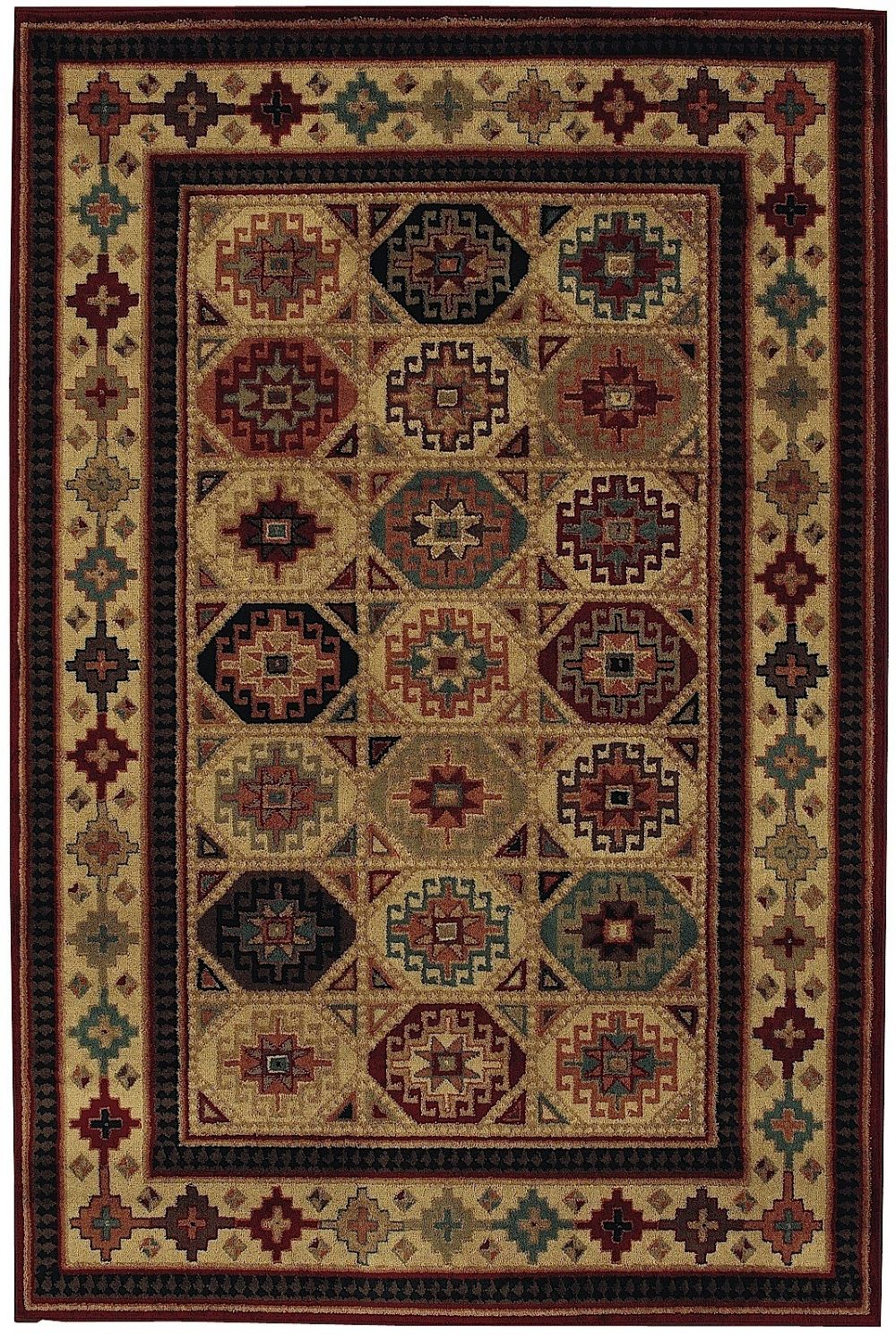shaw accents southwestern/lodge area rug collection