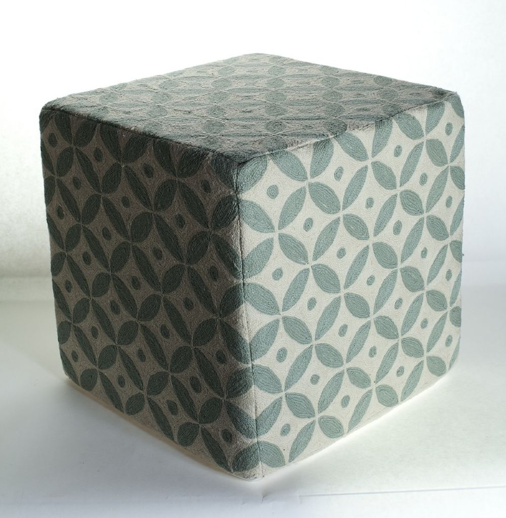 momeni chainstitch contemporary pouf/ottoman collection