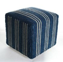 Momeni Solid/Striped Veranda pouf/ottoman Collection