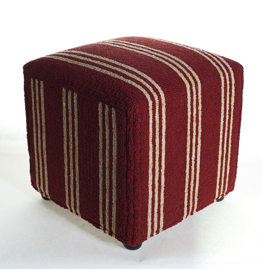 momeni veranda solid/striped pouf/ottoman collection