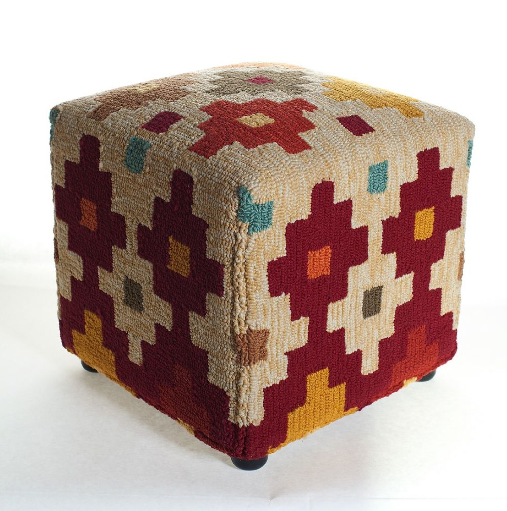 momeni veranda contemporary pouf/ottoman collection