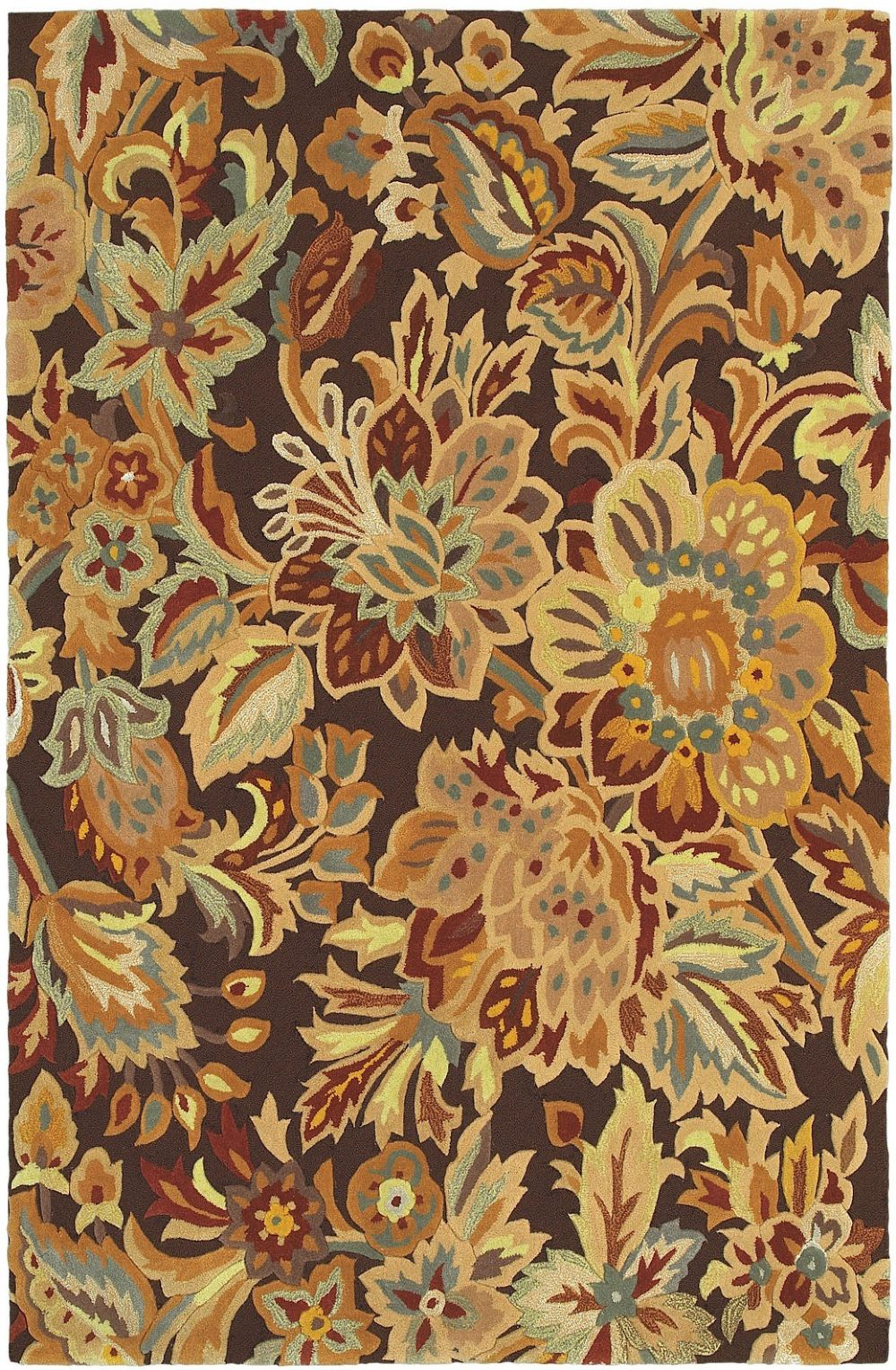 shaw highlands country & floral area rug collection