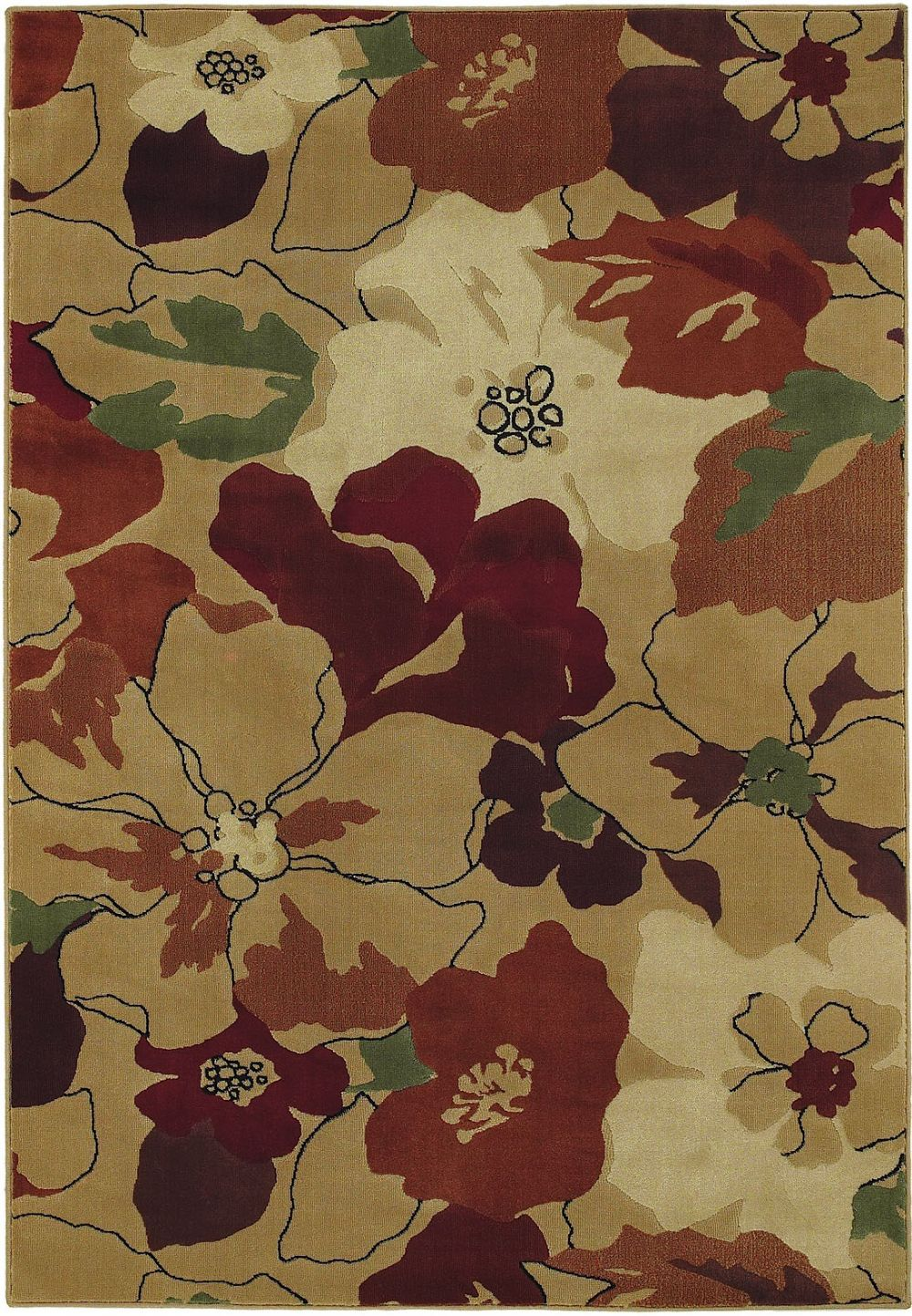 shaw reverie country & floral area rug collection