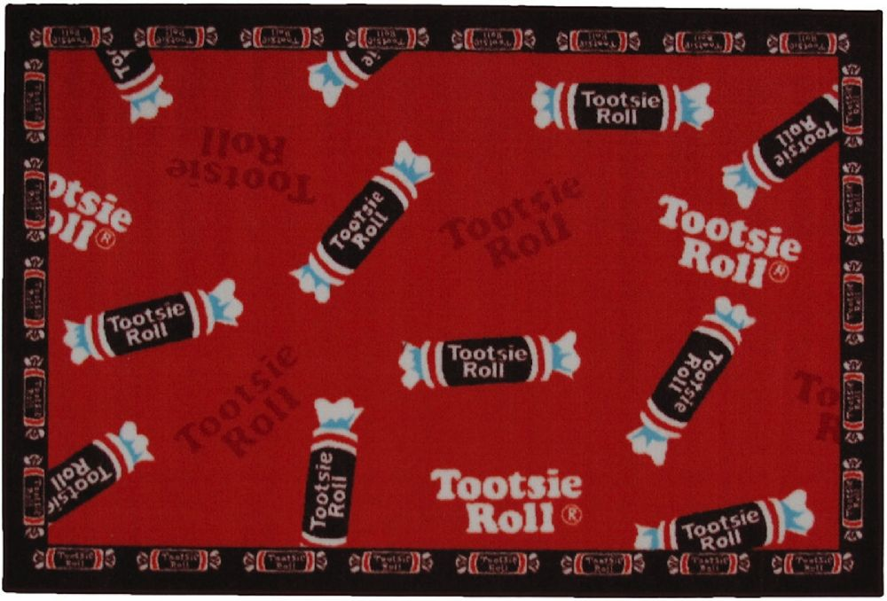 fun rugs tootsie roll kids area rug collection