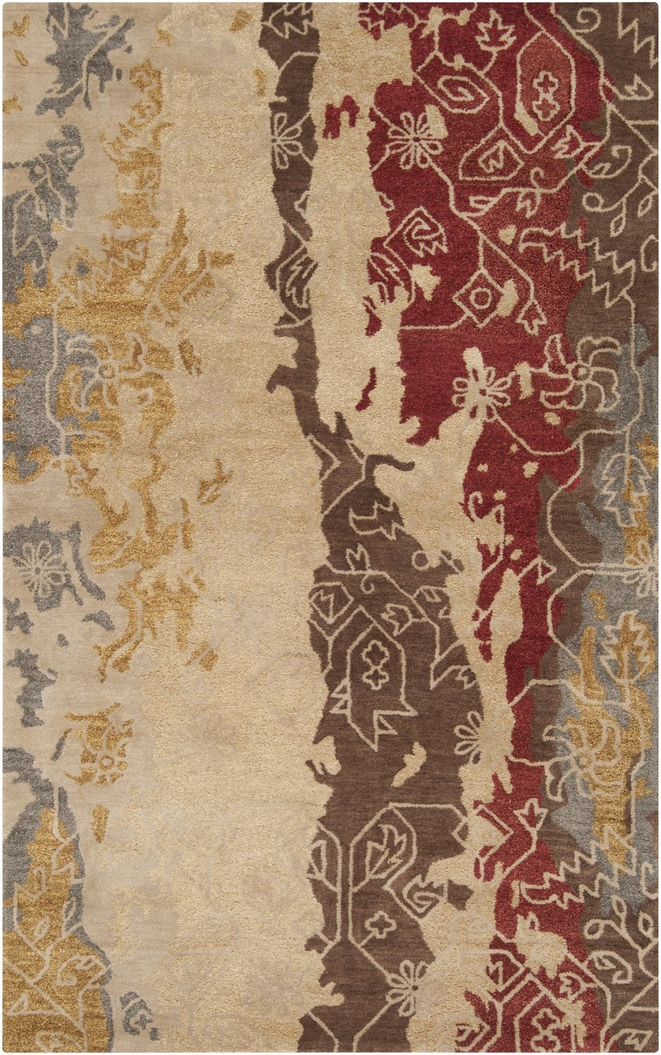 surya rant contemporary area rug collection