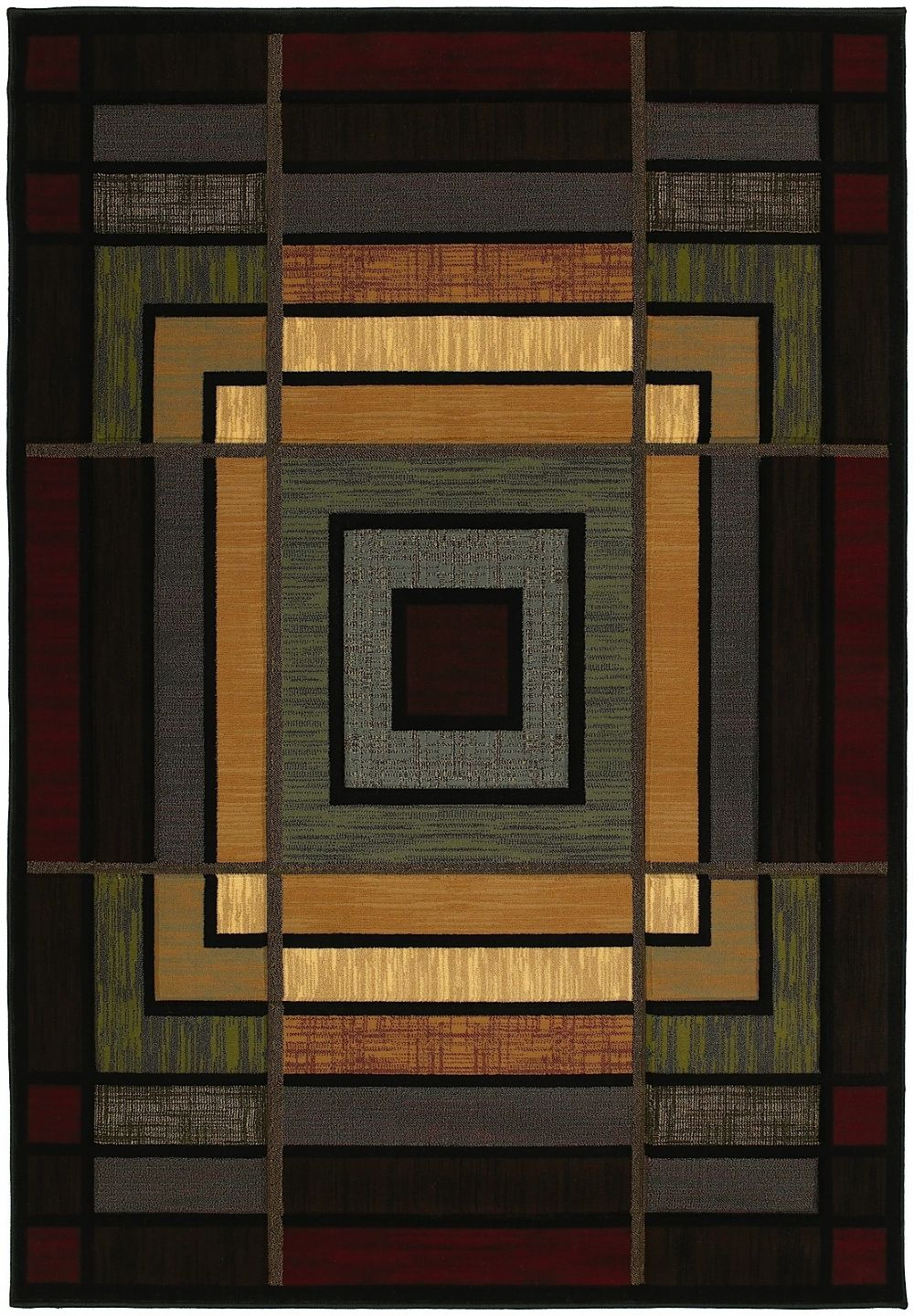 united weavers contours southwestern/lodge area rug collection