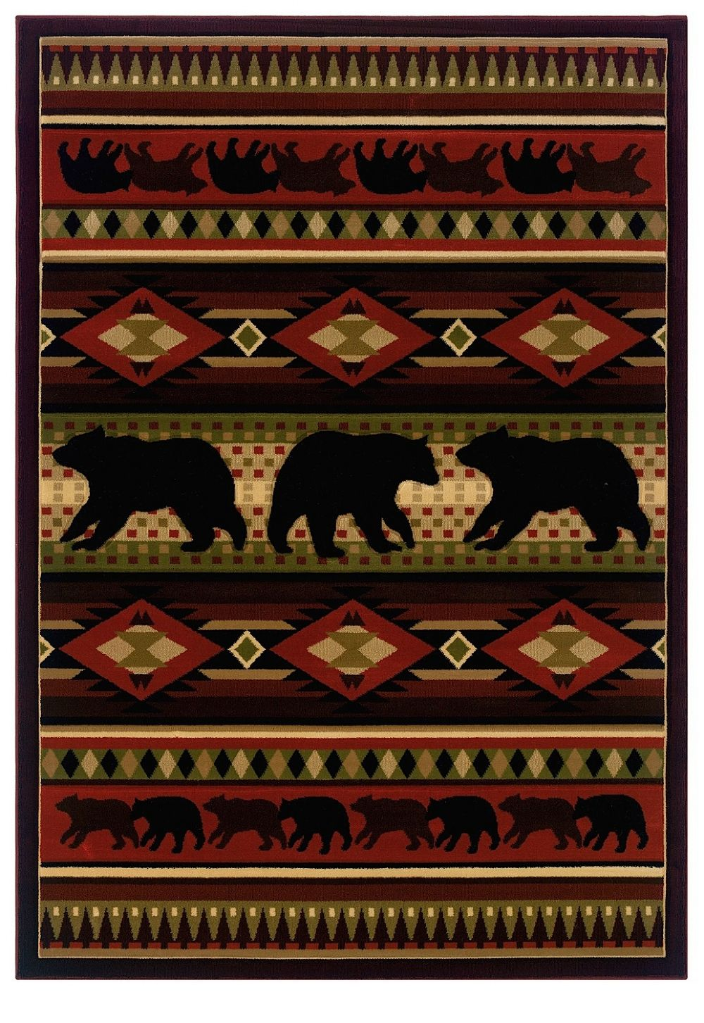 united weavers contours-jq southwestern/lodge area rug collection