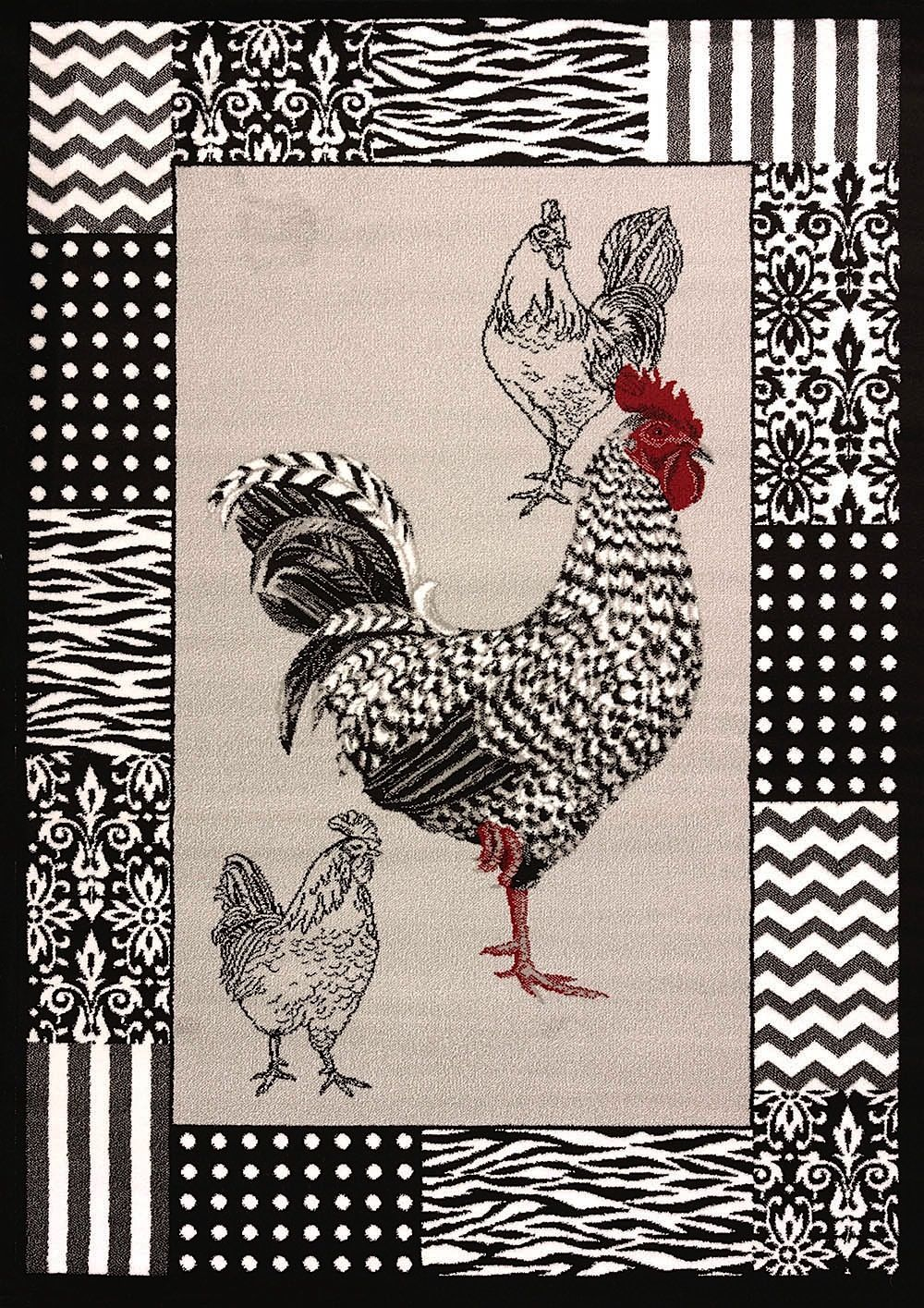 united weavers cristall  bw rooster contemporary area rug collection