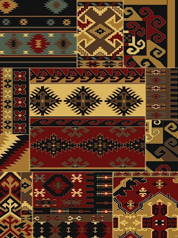 united weavers savannah southwestern/lodge area rug collection