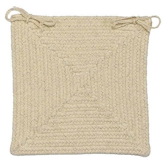 colonial mills shear natural braided chair pad collection