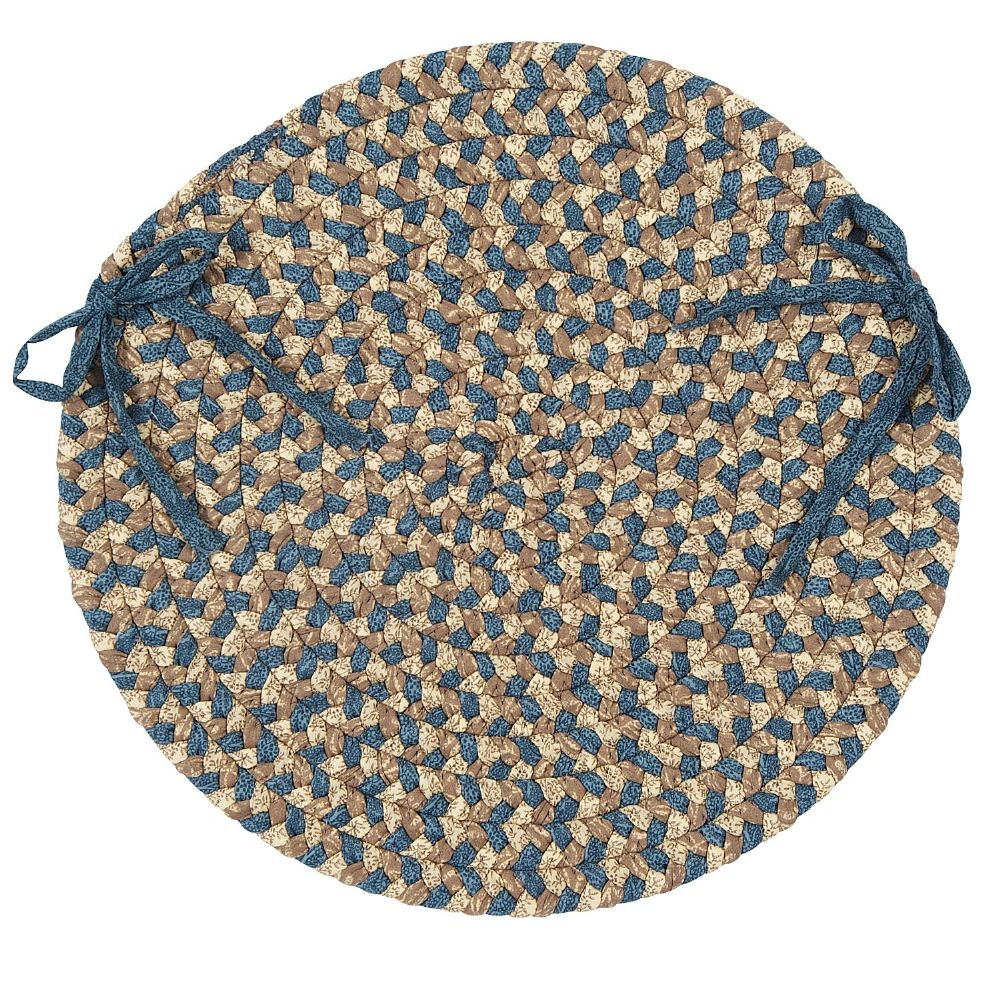 colonial mills pattern-made braided chair pad collection