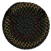 Colonial Mills Braided Midnight chair pad Collection