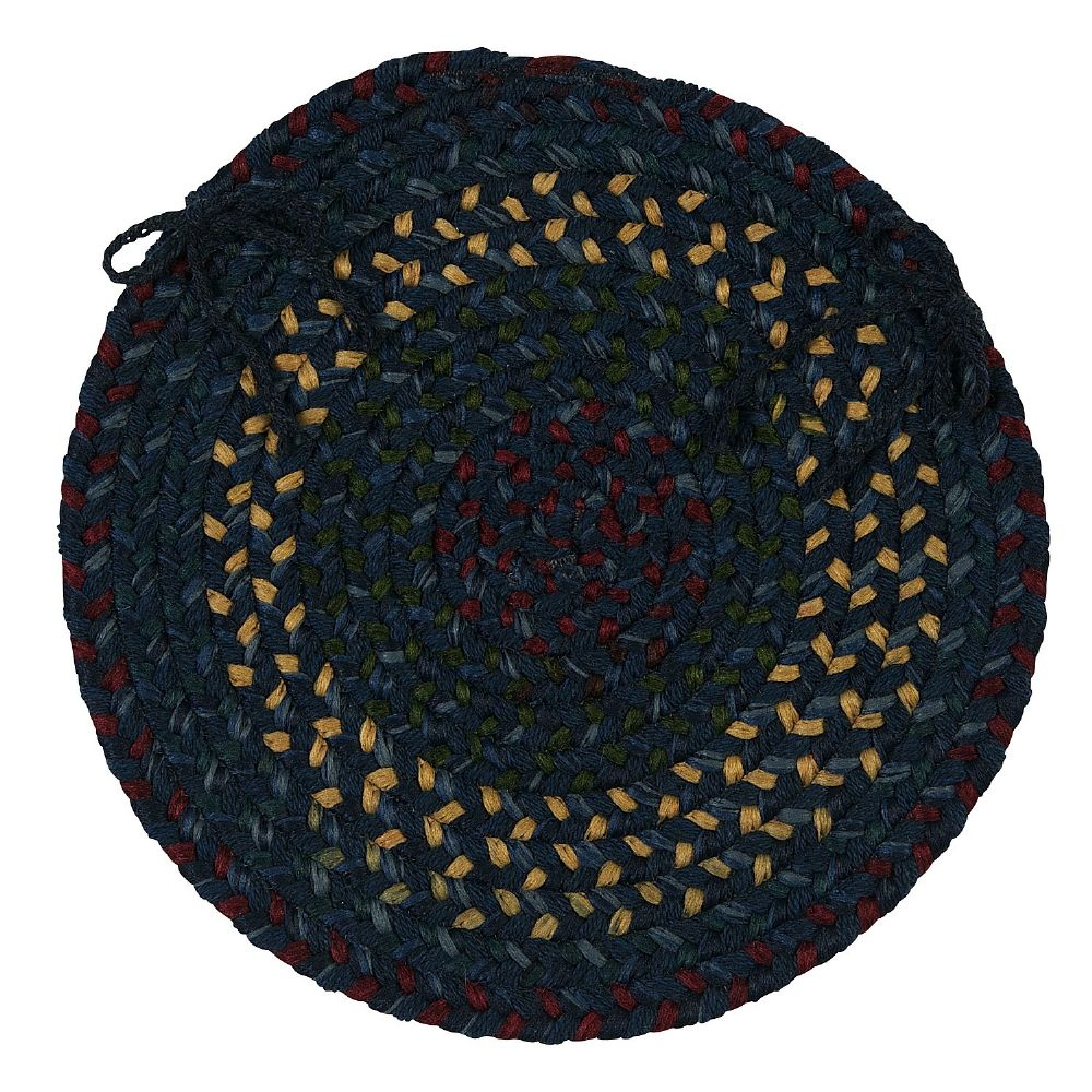 colonial mills midnight braided chair pad collection