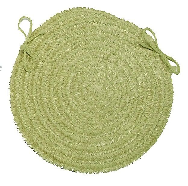 colonial mills silhouette braided chair pad collection