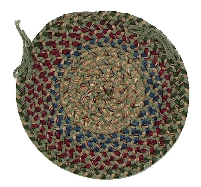 colonial mills twilight braided chair pad collection