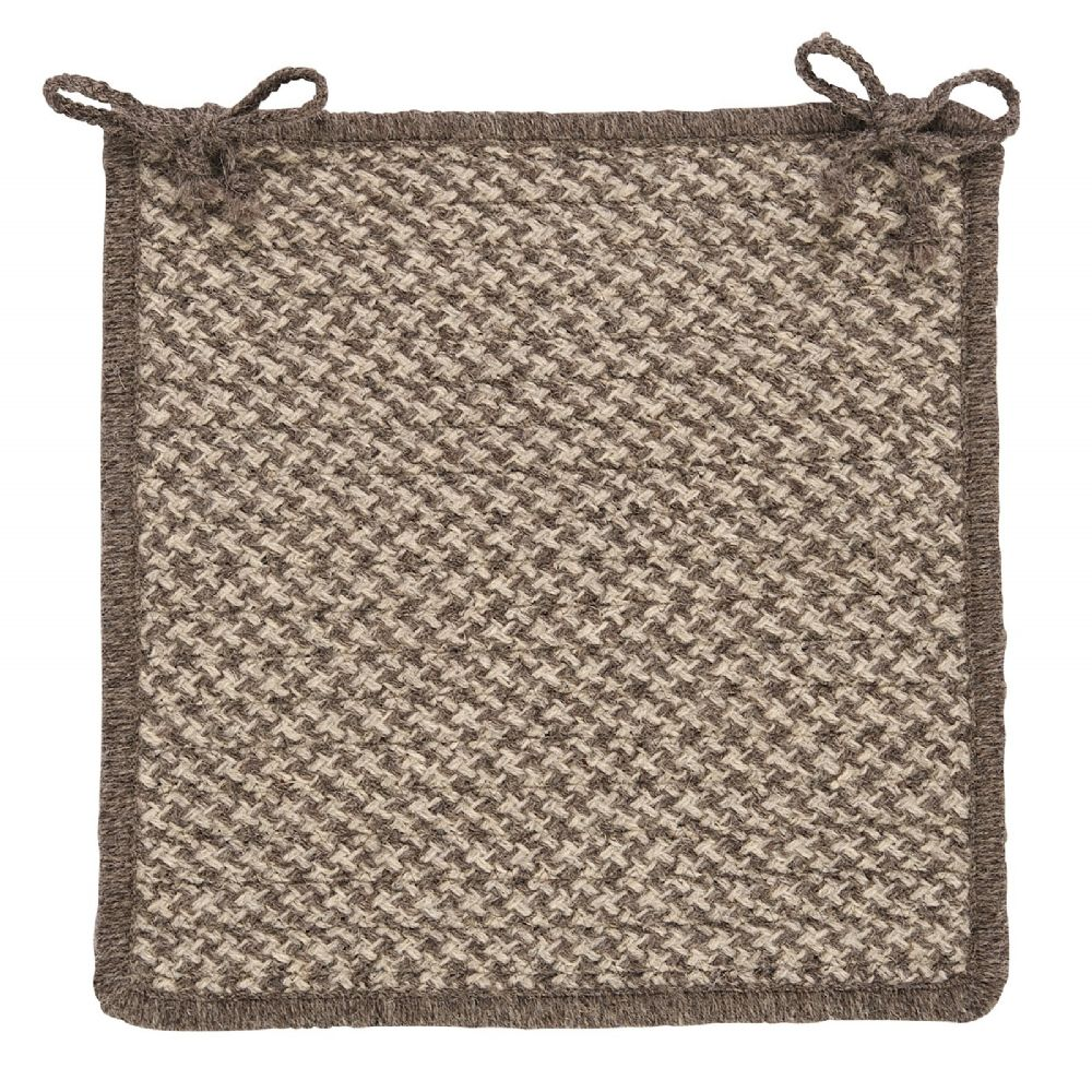 colonial mills natural wool houndstooth braided chair pad collection
