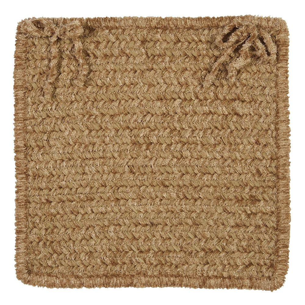 colonial mills simple chenille braided chair pad collection