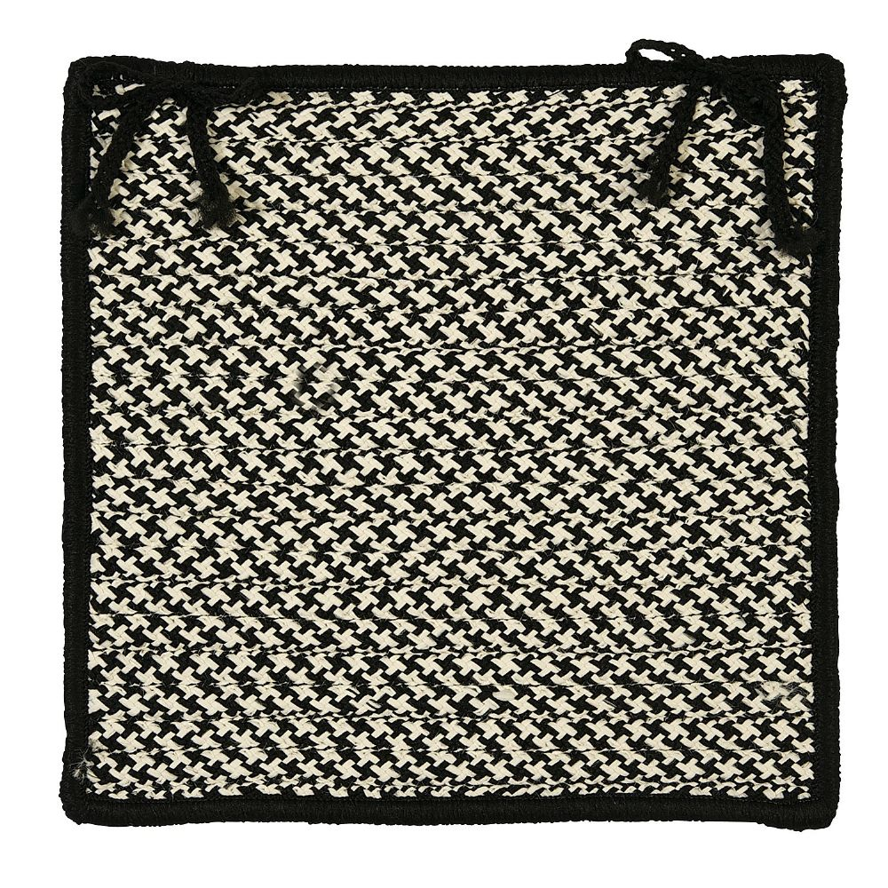 colonial mills outdoor houndstooth tweed braided chair pad collection