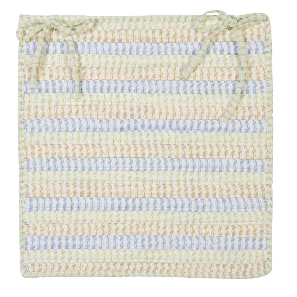 colonial mills ticking stripe braided chair pad collection
