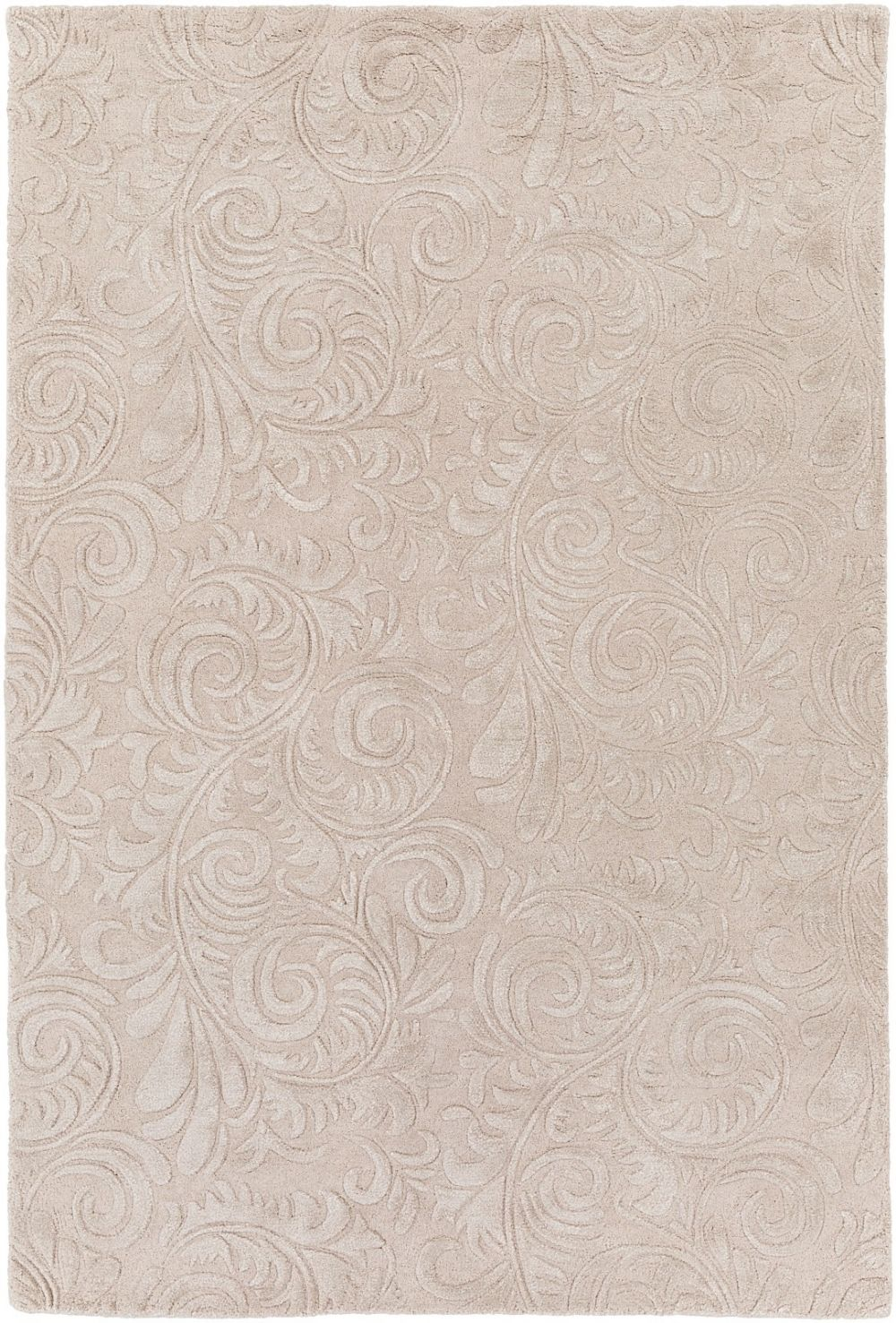 surya antoinette solid/striped area rug collection