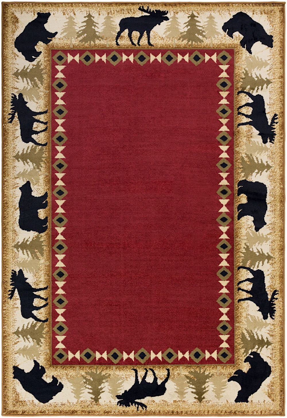 surya mountain home solid/striped area rug collection
