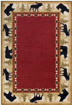 Surya Solid/Striped Mountain Home Area Rug Collection