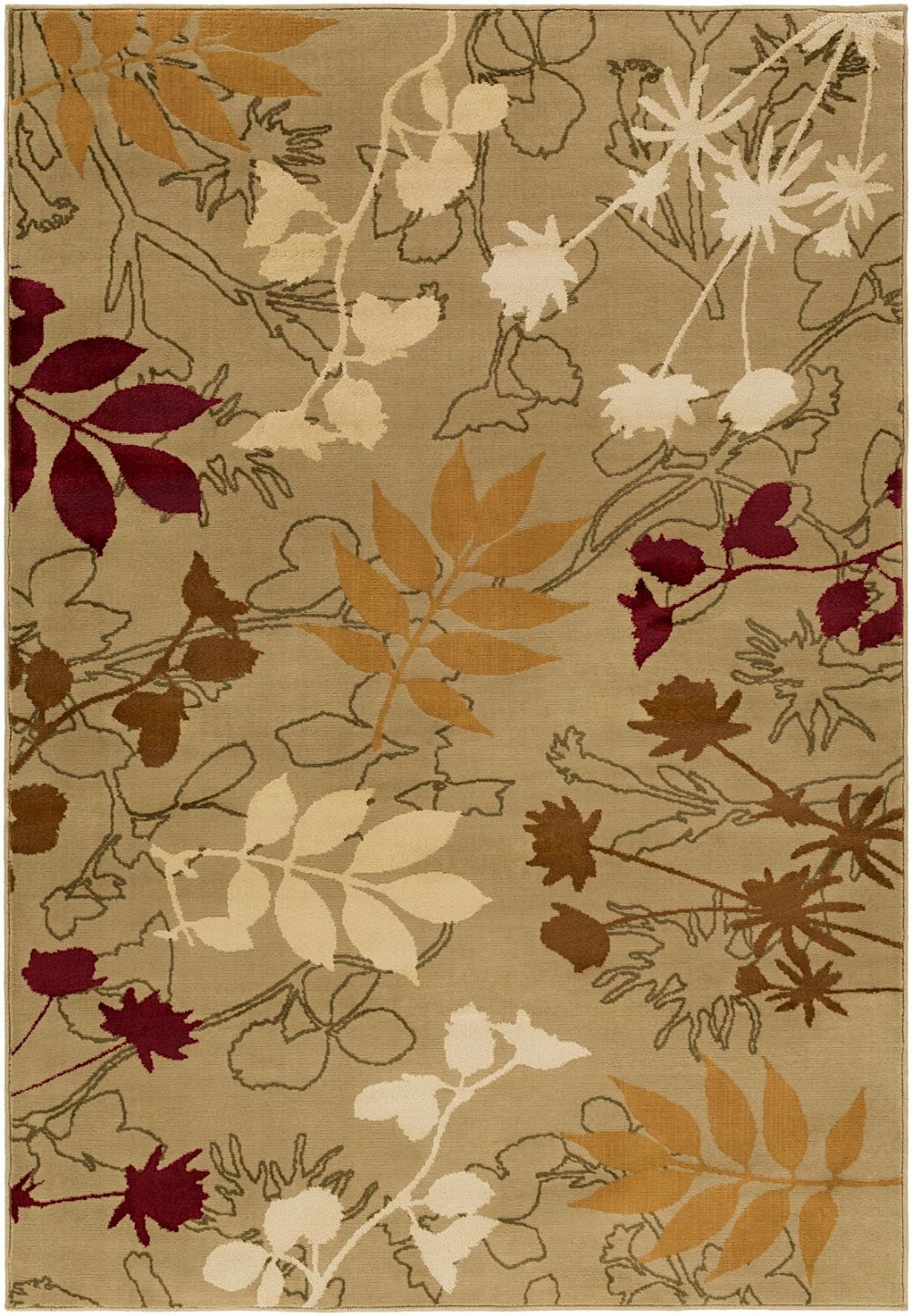surya mountain home country & floral area rug collection