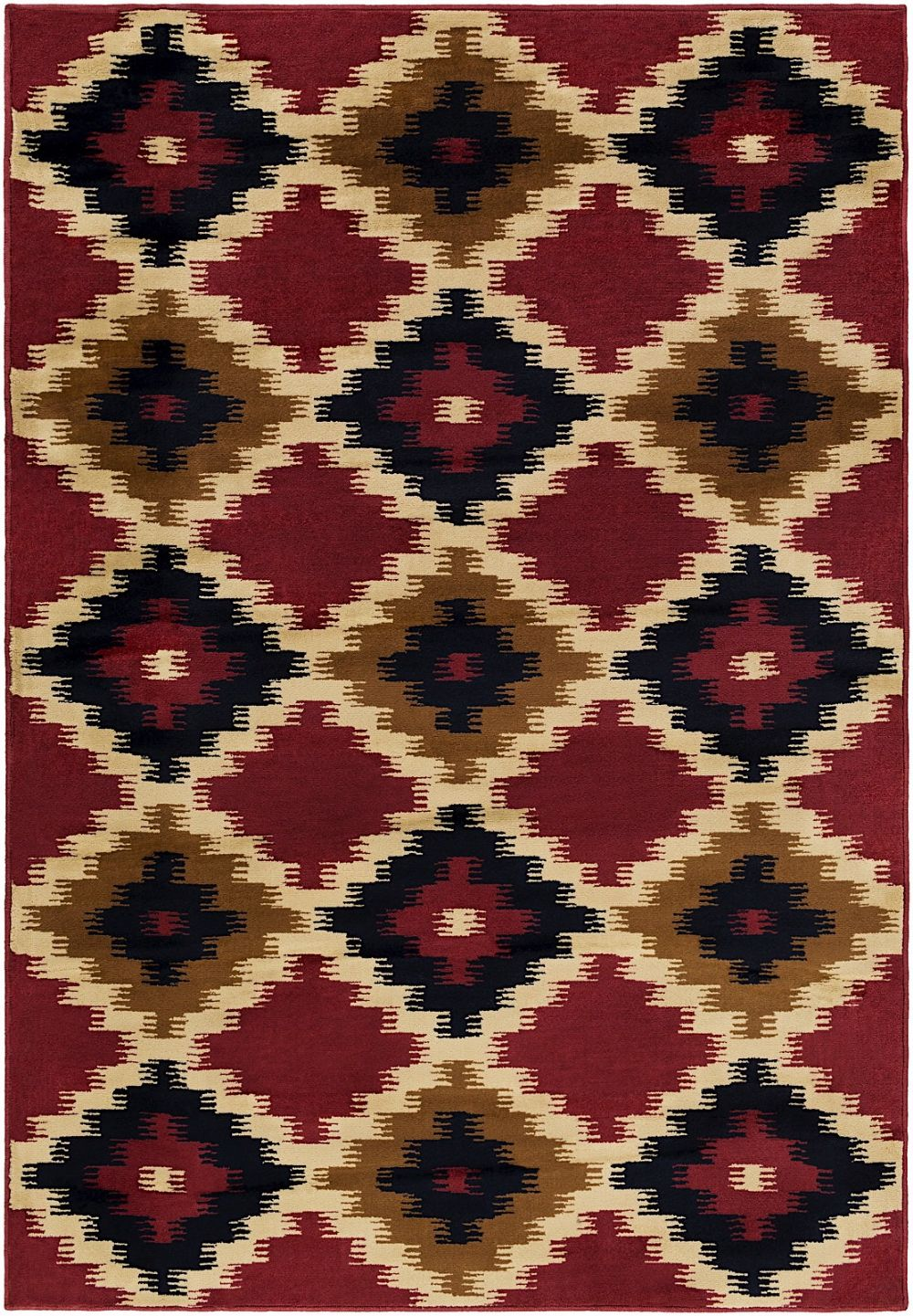 surya mountain home southwestern/lodge area rug collection