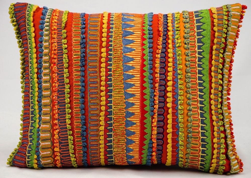 nourison fantasia pillow solid/striped decorative pillow collection