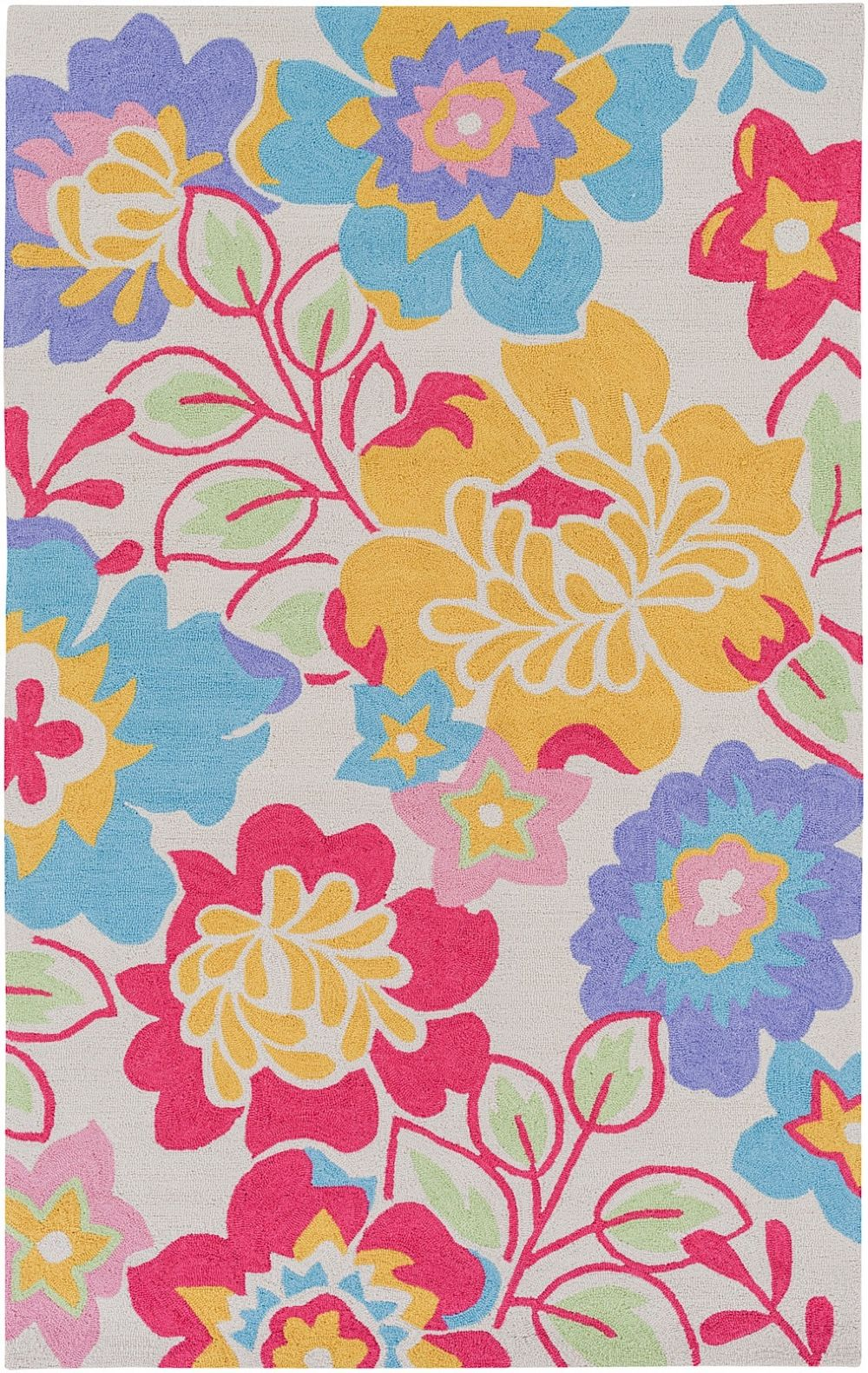 surya peek-a-boo country & floral area rug collection