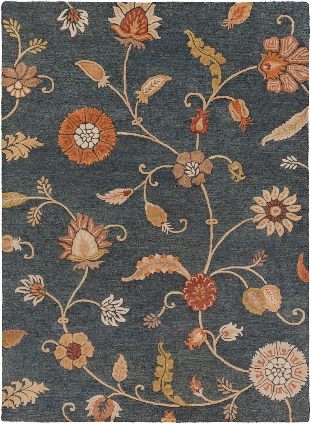 surya sprout country & floral area rug collection