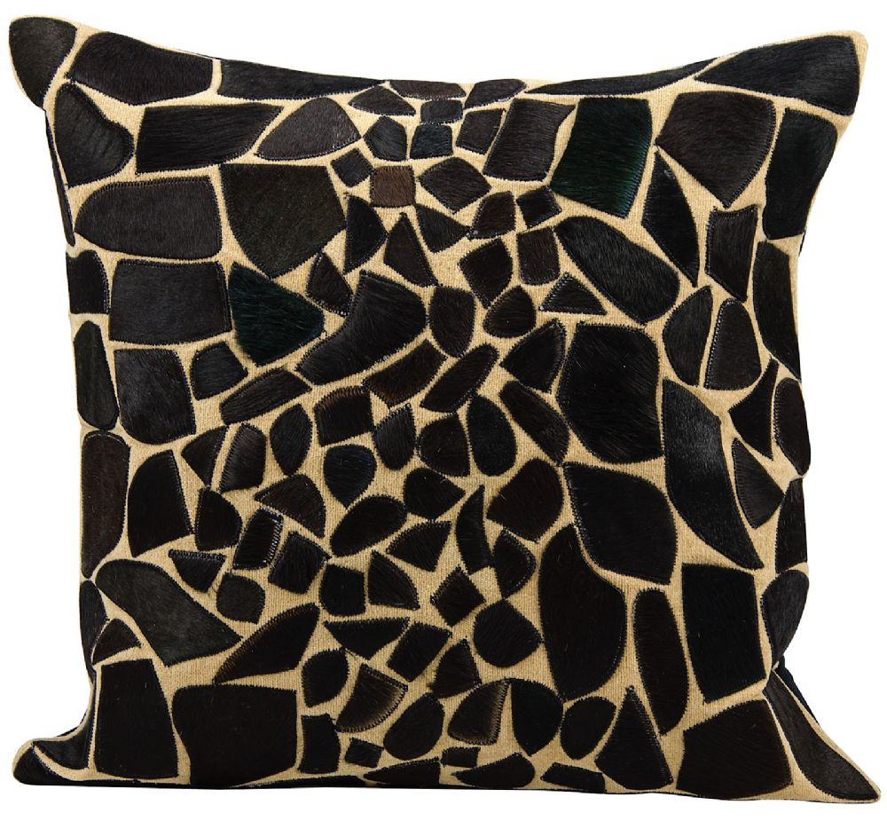 nourison natural leather hide pillow contemporary decorative pillow collection