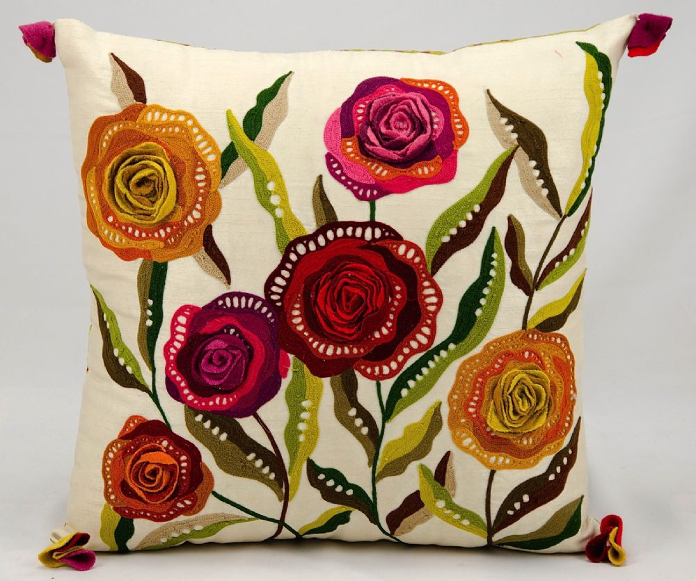 nourison fantasia pillow country & floral decorative pillow collection