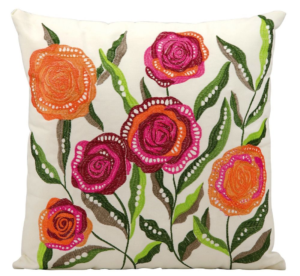 nourison outdoor pillow country & floral decorative pillow collection