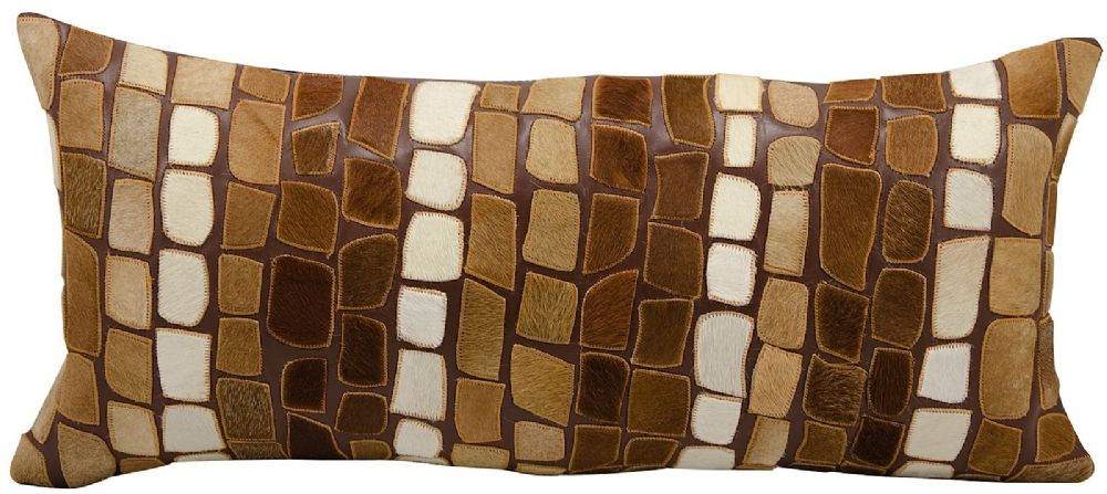 nourison cowhyde pillow animal inspirations decorative pillow collection