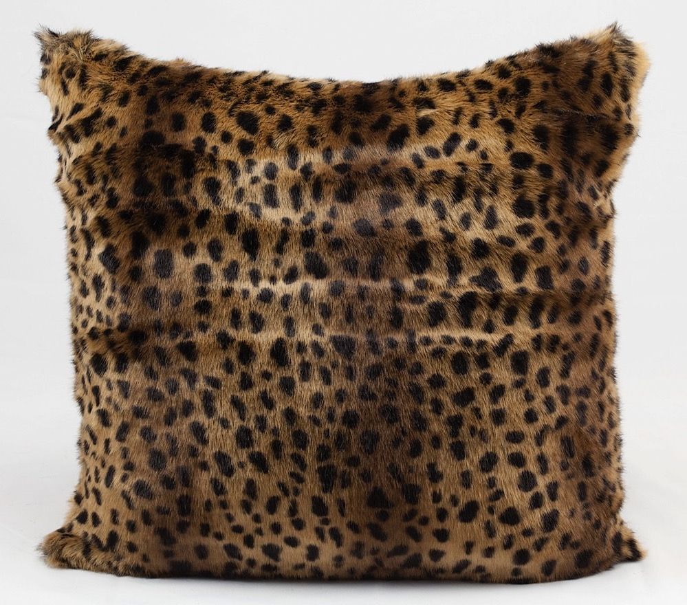 nourison fur pillow animal inspirations decorative pillow collection